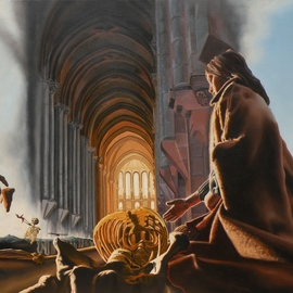 Dave Martsolf Artwork The Cathedral, 1979 Oil Painting, Surrealism