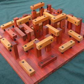 Dave Martsolf Artwork Woodhenge, 2013 Wood Sculpture, Architecture