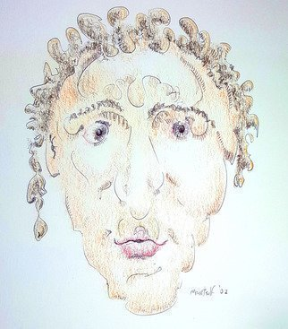 Dave Martsolf: 'caius lividicus', 2018 Pencil Drawing, Portrait. Artist Description: Caius Lividicus is a fictitious citizen of the late great Roman Empire. The original drawing was completed in 2002 and hand- colored in 2018. ...
