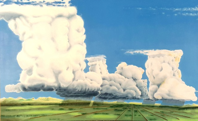 Dave Martsolf  'Cumulonimbus Party', created in 2019, Original Drawing Pastel.