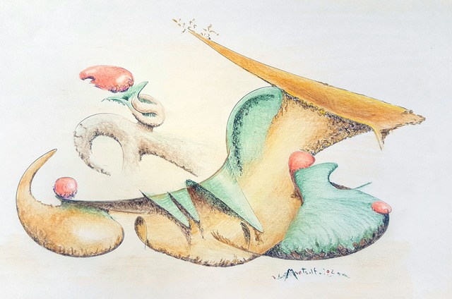Dave Martsolf  'Festive Horn', created in 2017, Original Drawing Pastel.