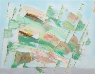 Dave Martsolf: 'green flags', 2019 Oil Painting, Abstract Landscape. Artist Description: If purchased, this piece will ship framed, wired, and ready to hang. ...