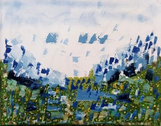 Dave Martsolf: 'highland spring', 2020 Oil Painting, Abstract Landscape. If purchased, this work will be shipped with a frame, wired, and ready to hang. ...