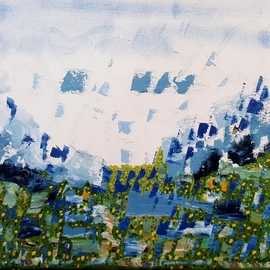 Dave Martsolf: 'highland spring', 2020 Oil Painting, Abstract Landscape. Artist Description: If purchased, this work will be shipped with a frame, wired, and ready to hang. ...