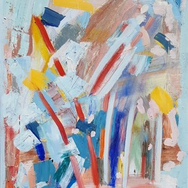 Dave Martsolf - red sticks, Original Painting Oil