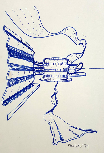 Dave Martsolf: ribbons, 1979 Pencil Drawing