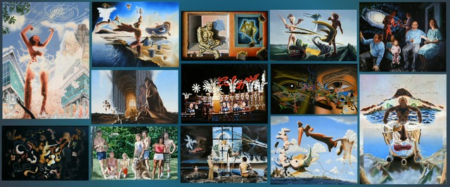 Artist Dave Martsolf. 'Surreal Oils Banner' Artwork Image, Created in 2017, Original Drawing Pastel. #art #artist