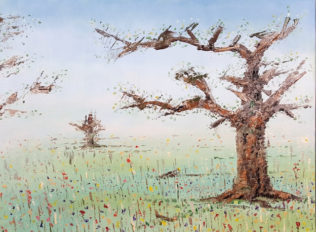 Dave Martsolf  'The Forgotten Orchard', created in 2019, Original Pastel Oil.