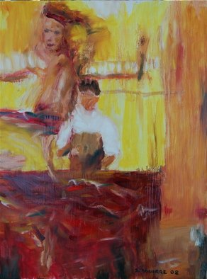 Artist: David Rocky Aguirre - Title: Motion belly dancer - Medium: Oil Painting - Year: 2008