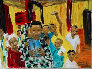 Artist: David Rocky Aguirre - Title: liberia missionary  children - Medium: Oil Painting - Year: 2008