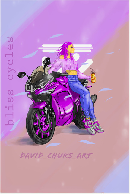 David Okoye  'Bliss Cycles', created in 2020, Original Animation.