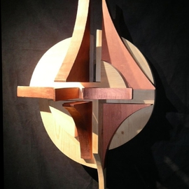 David Chang Artwork Light Reach, 2004 Wood Sculpture, Abstract