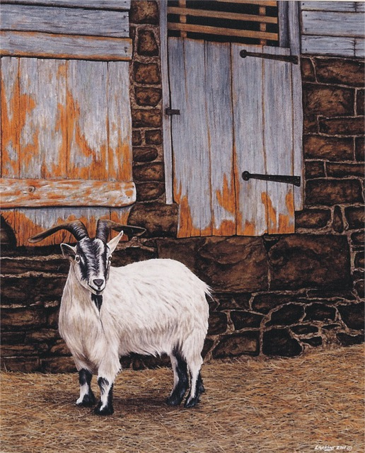David Larkins  'Bebe The Goat', created in 2001, Original Giclee Reproduction.
