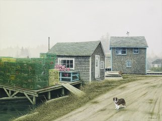David Larkins Artwork Boomers Cove, 2012 Giclee, Dogs