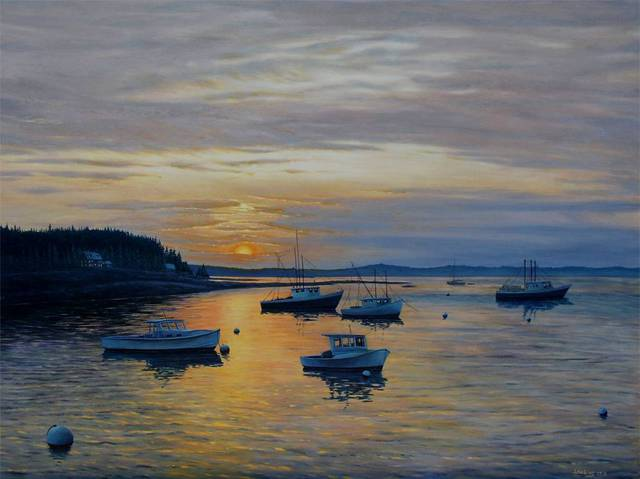 David Larkins  'Eventide', created in 2007, Original Giclee Reproduction.
