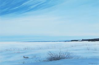 Wildlife Acrylic Painting by David Larkins titled: Frozen, created in 2014