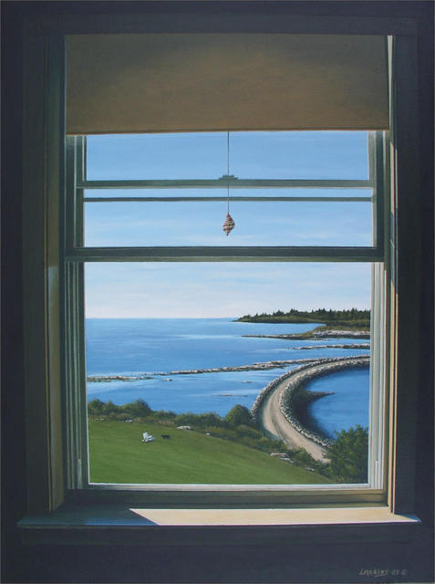 David Larkins  'Road To Spruce Head Island', created in 2003, Original Giclee Reproduction.