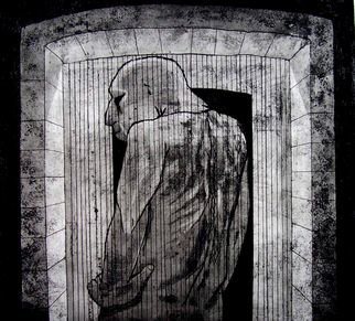 David Larson Evans: 'ertica', 2007 Etching, Abstract Figurative.  limited edtion . . hand pulled by the artist ...