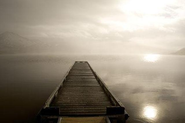 David Lorenz Winston  'Emigrant Lake Pier', created in 2005, Original Photography Black and White.