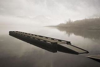 David Lorenz Winston: 'Emigrant Lake Pier II', 2005 Other Photography, Marine. Pier, and Emigrant Lake watercsape...