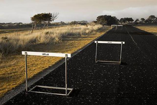 David Lorenz Winston  'Hurdles', created in 2005, Original Photography Black and White.