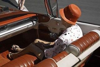 David Lorenz Winston: 'Woman in Parade Car', 2005 Color Photograph, Americana. Woman seated in 50' s Cadillac, Ashland, OR 4th of July  ...