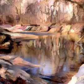 David Works: 'Maryland Fall', 2002 Other Photography, Landscape. Artist Description: A small pond in Maryland.  From original Photograph.  Printed with archival pigment inks on 13x19 inch watercolor paper....