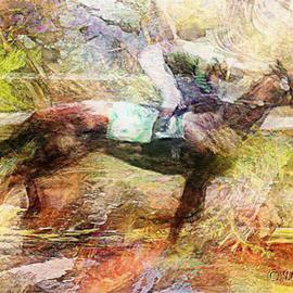 David Works: 'Race 1', 2002 Other Photography, Equine. Artist Description: Race Horse and Jockey in the race.  Derived from original photograph.  Printed with archival inks on 13x19 inch watercolor paper....