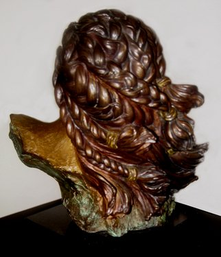 Bronze Sculpture by Dawn Feeney titled: Amaquua back view, 2005