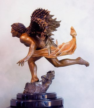 Bronze Sculpture by Dawn Feeney titled: Azrael Side View, 2006
