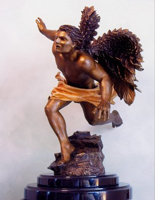 Bronze Sculpture by Dawn Feeney titled: Azreal, 2006
