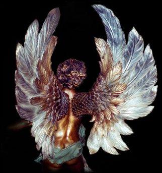 Bronze Sculpture by Dawn Feeney titled: Divine Romance Detail, 2006