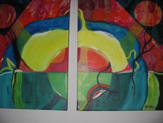 Daya Bonnie Astor Artwork Diptych:Magical Forest, 2007 Acrylic Painting, Abstract