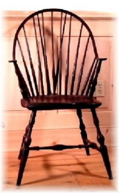 David Nauman: 'Continuous arm Windsor chair', 2011 Furniture, Architecture. Artist Description:  Antique reproduction, Windsor chair, period furniture, handmade furniture, antique chairs, continuous arm Windsor ...