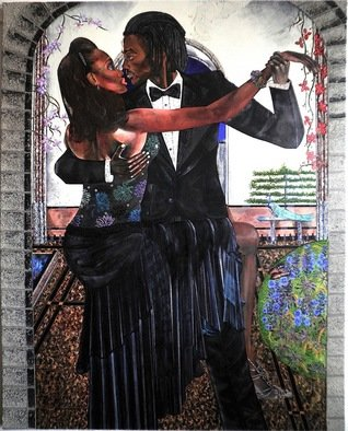 Dennis Duncan: 'TANGO NEGRO', 2008 Acrylic Painting, Romance.   I began researching the origins of the TANGO around 2006. I have always been fascinated by the sensuality of the TANGO, it is the essence of beauty, color, movement, and grace.As with each new artwork, I have tried to elicit an reaction, using romance combined with sexuality between the...