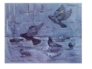 Debabrata Biswas: 'birds1', 2014 Pastel Drawing, Birds. Artist Description:                   Capturing a moment of life is an artistaEURtms ageless quest. I try to establish the fundamentals of space and unifying this dire necessecity in my work. I derive inspiration from my immediate surroundings, so my subjects are always nature, animal and human. I intend to portray them ...