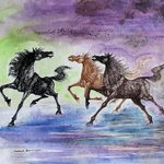 galloping horses 56 By Debabrata Biswas