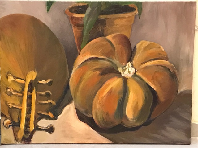 Debbie Jacobson  'Pumpkin', created in 2018, Original Painting Oil.