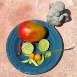 Blue Plate Mango Angel By Debra Cortese