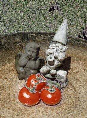 Debra Cortese Artwork Garden Angel, Gnome and Tomatoes, 2008 Other Photography, Food