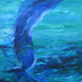 Debra Cortese: 'Ocean Blue Sea Spirit', 2005 Acrylic Painting, Fish. Artist Description: Inspired by the International Billfish competition in Miami, this acrylic painting features the sea greens, blues and energy of a soaring billfish as it skillfully taunts its would be captors.  ...