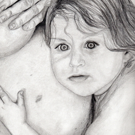 Dee-ann Lancaster Artwork Mommy and Me, 2007 Pencil Drawing, Family