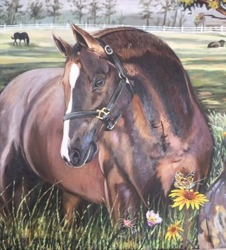Ayodeji Akinyele: 'horse ranch', 2019 Oil Painting, Animals. Artist Description: Original handmade Horse Ranch painting by Ayodeji Akinyele medium Oil On Canvas ...