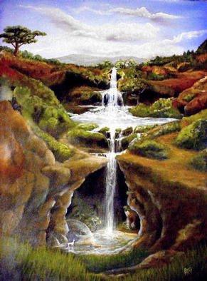 Artist: Devi Delavie - Title: Unicorn Wells - Medium: Acrylic Painting - Year: 2003