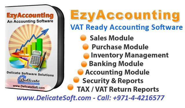 Delicate Software  'Vat Accounting Software In Uae', created in 2018, Original Computer Art.