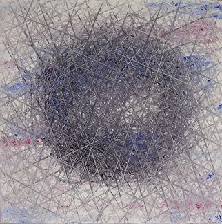 Nikolay Deliyanev: 'sfera 004', 2005 Acrylic Painting, Optical.