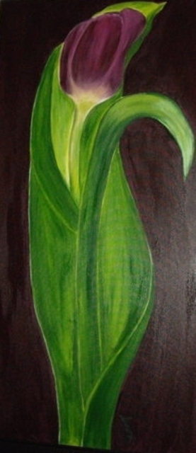 Serena Delossantos  'Womanly Tulip', created in 2010, Original Painting Acrylic.
