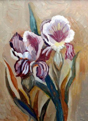 Artist: Basha Aziz - Title: flowers - Medium: Oil Painting - Year: 2005