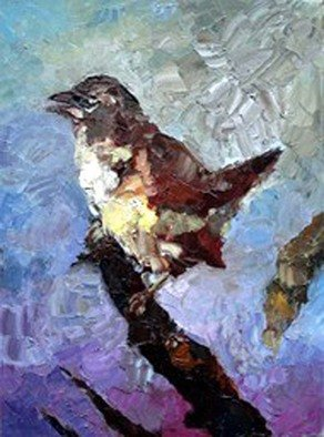 Artist: Basha Aziz - Title: the bird - Medium: Oil Painting - Year: 2005