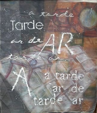 Denise Derviche: 'tardear', 2005 Acrylic Painting, Abstract.  a poem ...